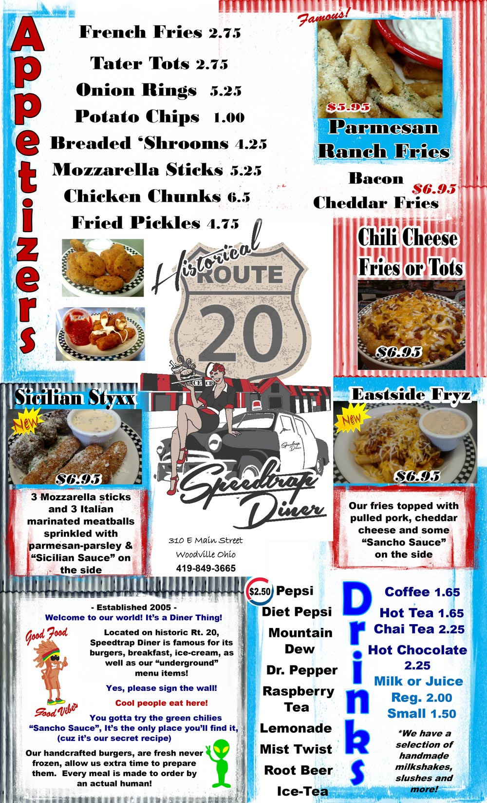 SpeedTrap Diner Menu p1