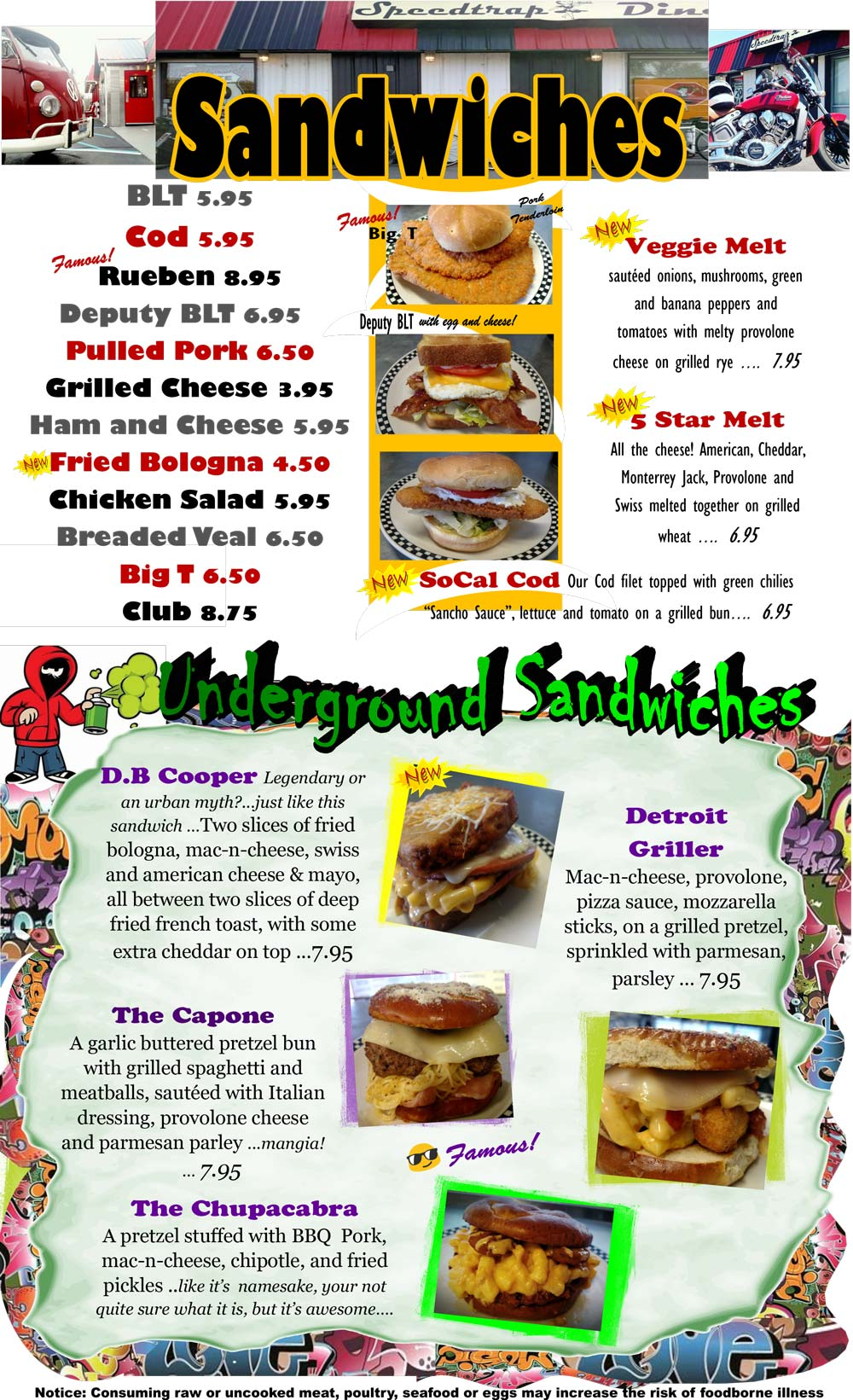 SpeedTrap Diner Menu p3