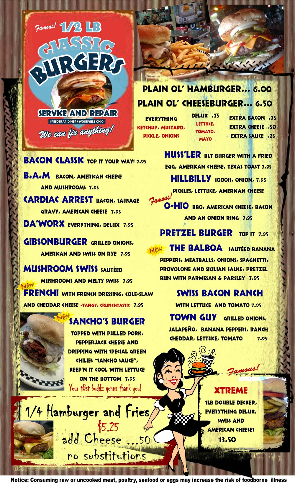 SpeedTrap Diner Menu p4